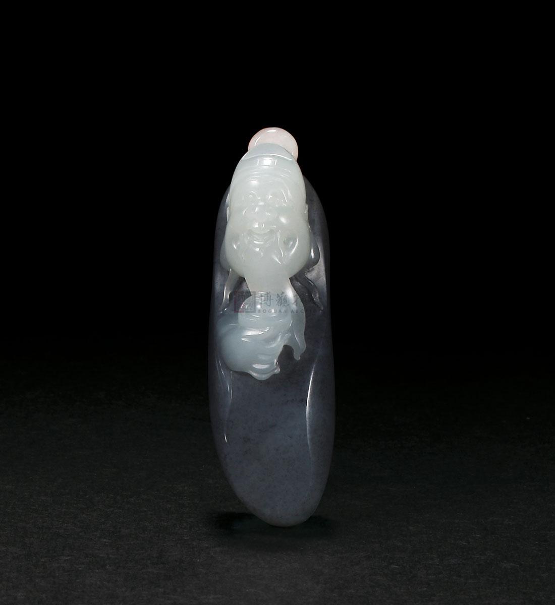 玉雕财神素描设计图
